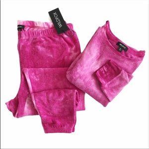 Wildfox Pink Love Potion Tie-Dye Loungewear Set